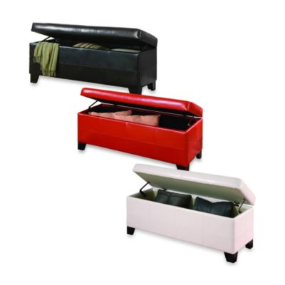 Mariolla Faux Leather Storage Bench