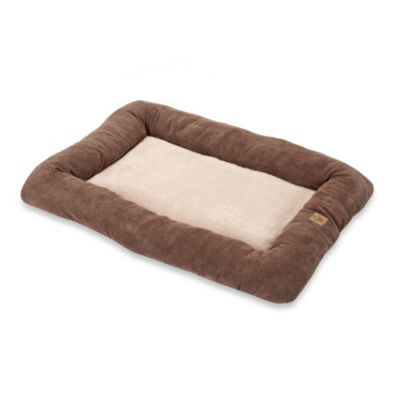 "SnooZZy® Low Bumper 18"" x 14"" Crate Mat in Coffee Liqueur Chenille"