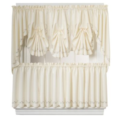Forget-Me-Not 38-Inch Swag Valance in Ecru/Rose