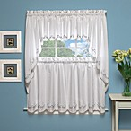 Forget-Me-Not 38-Inch Window Curtain Swag Pair in White/Blue