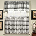 Dover Window Curtain Tier Pairs in Black
