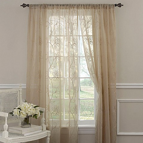 Buy Embroidered Curtain Sheers From Bed Bath Amp Beyond