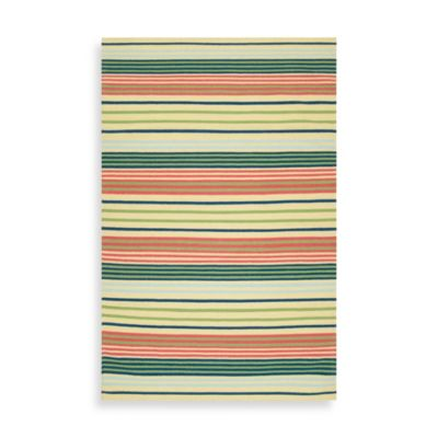 Argyle Striped Rug 8-Foot x 11-Foot in Pear