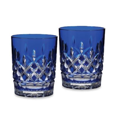 Waterford® Lismore Cobalt Double Old Fashioned Glass (Set of 2)