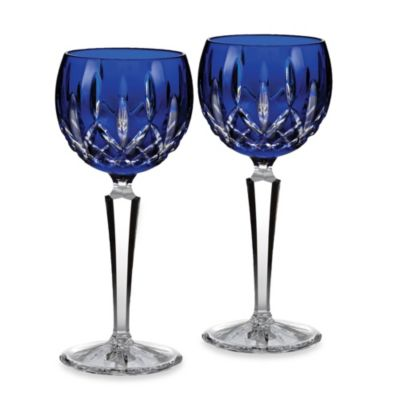 Waterford® Lismore Cobalt Hock Pair