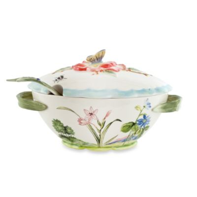 Fitz and Floyd® Flourish 7.75-Quart Tureen with Ladle