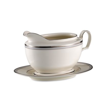 Aegean Mist Gravy Boat With Tray
