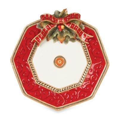 Fitz and Floyd® Damask Holiday Octagonal Platter