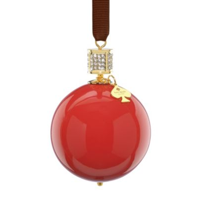 kate spade new york Red Bejeweled Pave Collection Ornament