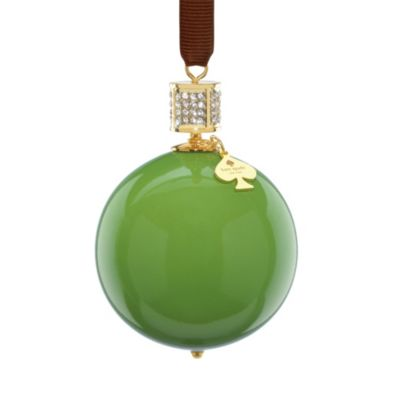 Kate Spade New York Pave Collection Bejeweled Ornament in Green