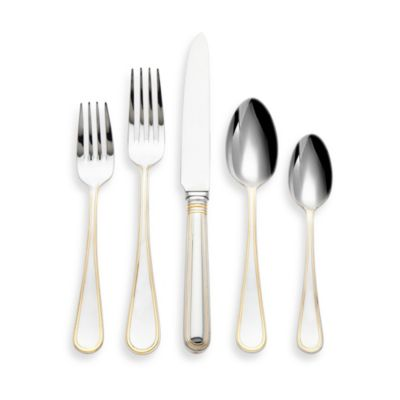 Ricci® Ascot Gold-Plated Stainless Steel 5-Piece Place Setting