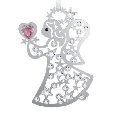 Angel Christmas Ornament with Swarovski® Crystal Accents