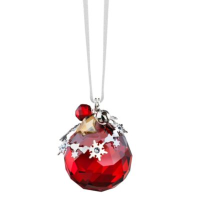Swarovski Light Siam Satin Christmas Ornament