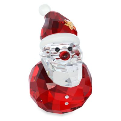 Rocking Santa Christmas Ornament in Swarovski® Crystal