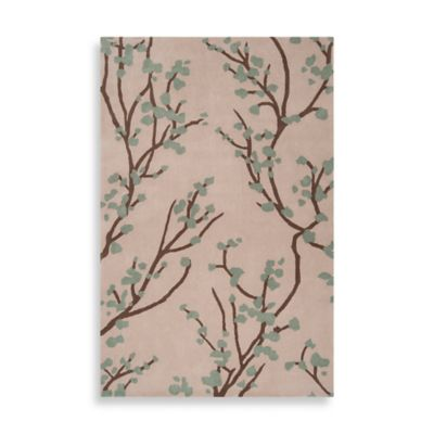 angelo:HOME Hudson Park 2-Foot 6-Inch x 8-Foot Floral Runner in Green/Ivory