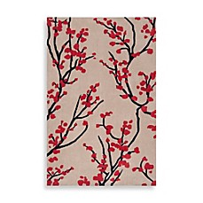 Angelo Home Hudson Park Floral Rug In Feather Grey Red