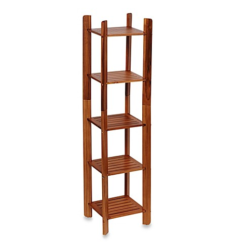 Taymor Teak 5 Tier Bathroom Tower Shelf. Bathroom Shelf Tower  Home Bath Bathroom Hardware Bathroom Shelves