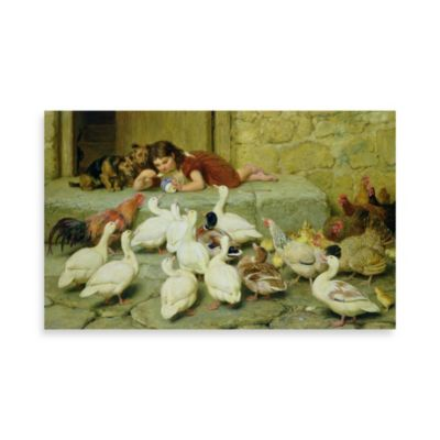 "PrintCopia Collection Briton Riviere, ""The Last Spoonful, 1880"" Canvas Print"
