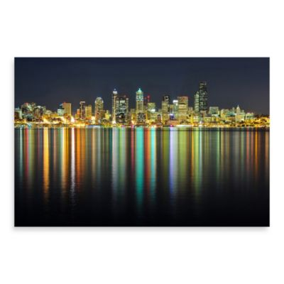 "PrintCopia Collection ""Seattle Skyline at Night"" Canvas Print"