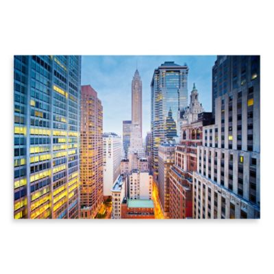"PrintCopia Collection Tony Shi ""Lower Manhattan Financial District"" Canvas Photo Print"