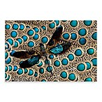 PrintCopia Collection Dragonfly and Peacock Feathers Canvas Print