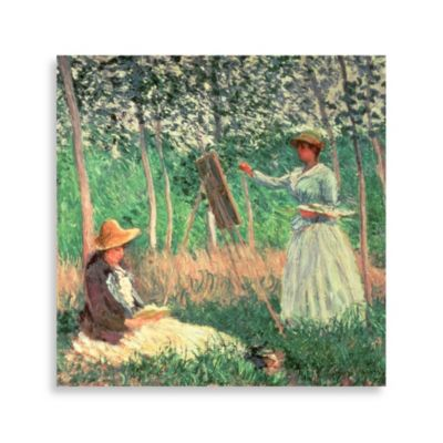 "PrintCopia Collection Monet """"In the Woods at Giverny"" 30-Inch x 30-Inch Canvas Print"