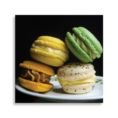 PrintCopia Collection Macaroons on a Black Background