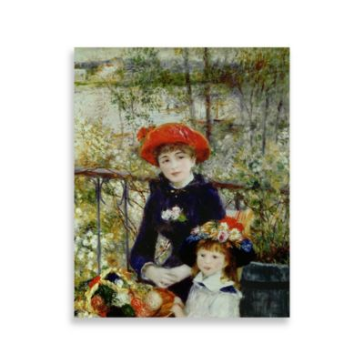 "PrintCopia Collection Renoir, ""Two Sisters, or On The Terrace 1881"" Canvas Print"