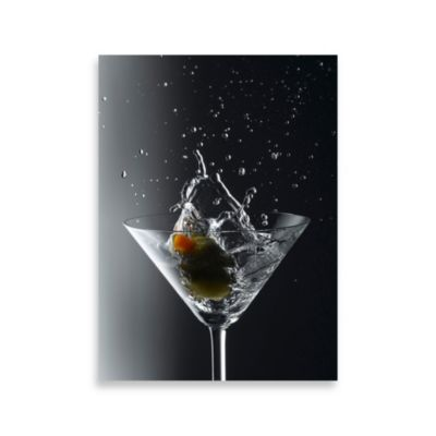 PrintCopia Collection Martini with an Olive Splash