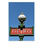 PrintCopia Collection Paris Metro Sign Canvas Photo Print