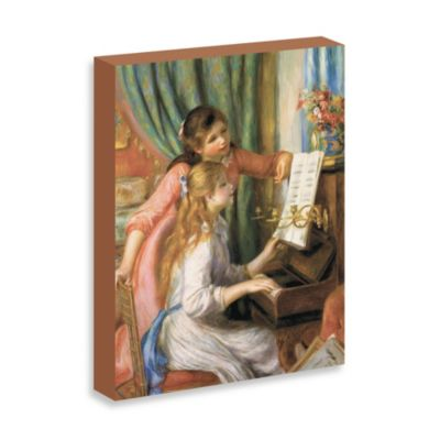 "Renoir ""Two Young Girls at the Piano"" Gallery Wrap Canvas Print"