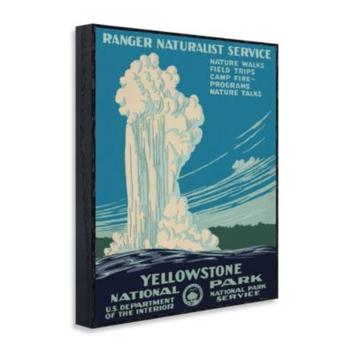 "Vintage Travel ""Yellowstone National Park"" Wall Art"