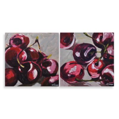 "Ren-Wil ""Wild Cherries"" Canvas Art (Set of 2)"