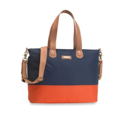 Storksak® Tote in Navy Orange