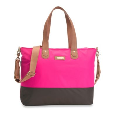 Storksak® Tote in Hot Pink Brown