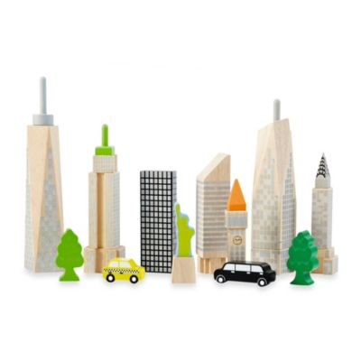 Wonderworld City Skyline Glow 19-Piece Block Set