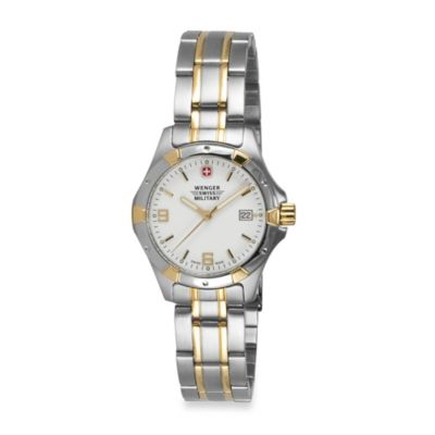 Wenger® Ladies Swiss Military Standard Issue Two-Tone Stainless Steel Watch