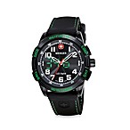 Wenger® Men's Green LED Nomad w/Black Dial and Black Strap