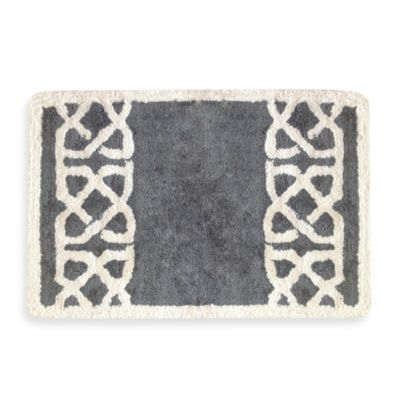 Colordrift Latice Grey 20-Inch x 30-Inch Bath Rug