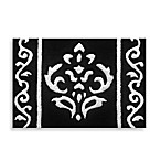Arabesque 20-Inch x 30-Inch Black Bath Rug