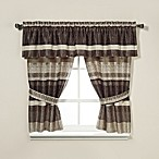 Croscill® Portland Window Curtain Valance in Black/Cream