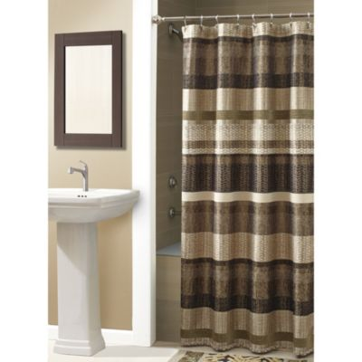 Croscill® Portland 70-Inch x 84-Inch Shower Curtain in Bronze