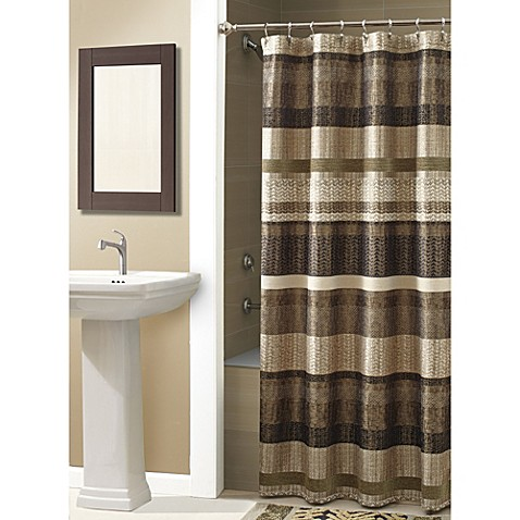 buy croscill portland 70 inch x 72 inch shower curtain in bronze from bed bath beyond. Black Bedroom Furniture Sets. Home Design Ideas