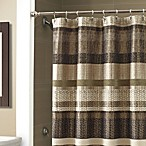 Croscill® Portland 70-Inch x 72-Inch Stall Shower Curtain in Black