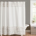 Amelie Ruffle 72-Inch x 72-Inch Shower Curtain in White