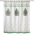 Avanti Linens Spode Christmas Tree Jacquard Shower Curtain