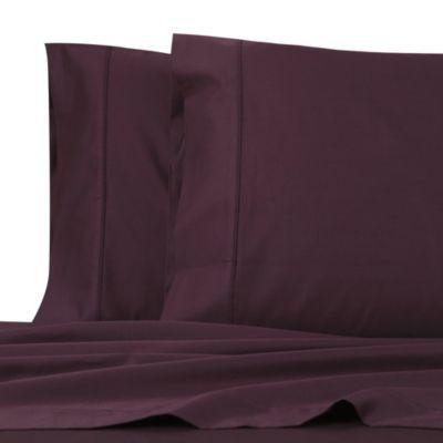 Plum Cotton Bed Sheets