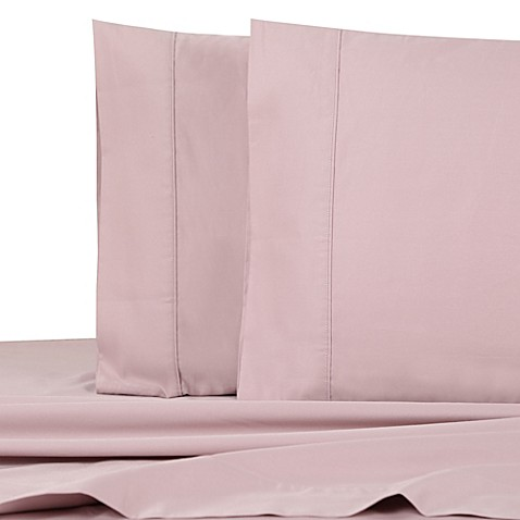 1000 thread count sateen california king deep pocket sheet set in pink