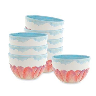 Fitz and Floyd® Flourish 30-Ounce Soup Bowls (Set of 8)