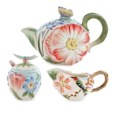 Fitz and Floyd® Flourish 3-Piece Teapot Set